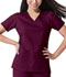 Photograph of Dickies Gen Flex Mock Wrap Top in D-Wine