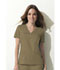 Photograph of Dickies Gen Flex V-Neck Top in Dark Khaki
