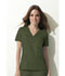 Photograph of Dickies Gen Flex Women's V-Neck Top Green 817455-OLIZ