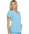 Photograph of Xtreme Stretch Women's V-Neck Top Blue 82851-TUBL