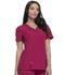 Photograph of Dickies Xtreme Stretch V-Neck Top in Wild Cherry