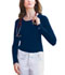 Photograph of Dickies Solids Women\'s Long Sleeve Underscrub Knit Tee Blue 84770-NVYZ