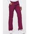 Photograph of EDS Signature Women's Low Rise Drawstring Cargo Pant Red 85100-WIWZ