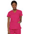 Photograph of Dickies EDS Signature Mock Wrap Top in Hot Pink