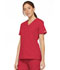 Photograph of Dickies EDS Signature Women's Mock Wrap Top Red 86806-REWZ