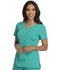 Photograph of Careisma Fearless Women's V-Neck Top Green CA601-EMRG