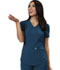 Photograph of Charming Women's Mock Wrap Top Blue CA610A-CAR