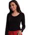 Photograph of Careisma Underscrub Knit Tees Women's Long Sleeve Underscrub Knit Tee Black CA612A-BAPS