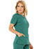 Photograph of Code Happy Cloud Nine Women's V-Neck Top Green CH602A-HUN