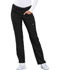 Photograph of Cherokee Luxe Women's Mid Rise Straight Leg Pull-on Pant Black CK003-BLKV