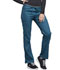 Photograph of Luxe Sport Women Mid Rise Straight Leg Pull-on Pant Blue CK003-CARV