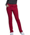 Photograph of iFlex Women's Mid Rise Tapered Leg Drawstring Pants Red CK010-RED