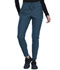 Photograph of Cherokee Form Women Mid-Rise Tapered Leg Drawstring Pant Blue CK090-CAR