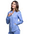 Photograph of Luxe Sport Women's Zip Front Warm-up Jacket Blue CK300-CELV