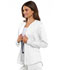 Photograph of Cherokee Luxe Sport Women's Zip Front Warm-up Jacket White CK300-WHTV