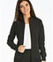 Photograph of iFlex Women's Zip Front Warm-Up Jacket Black CK303-BLK