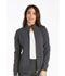 Photograph of iFlex Women's Zip Front Warm-Up Jacket Gray CK303-PWT