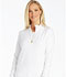 Photograph of iFlex by Cherokee Women's Zip Front Warm-Up Jacket White CK303-WHT