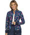 Photograph of Cherokee Flexibles Women's Zip Front Knit Panel Warm-Up Jacket Flying For A Cure CK308-FYCR