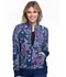 Photograph of Cherokee Flexibles Women's Zip Front Knit Panel Jacket Pineapple Paisley CK308-PAPP