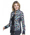 Photograph of Flexibles Women's Zip Front Knit Panel Jacket Polka Dot Game CK308-PDGM