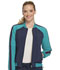 Photograph of Infinity by Cherokee Women's Zip Front Warm-up Jacket Blue CK310A-NYPS