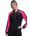 Photograph of Infinity Women Zip Front Colorblock Bomber Jacket Black CK320A-BAPS
