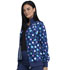Photograph of Infinity Women Zip Front Jacket Poppin' Polka Dots Navy CK372-PKNV