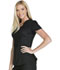 Photograph of Cherokee Luxe Sport Women's Mock Wrap Top Black CK603-BLKV