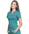 Photograph of Luxe Sport Women's Mock Wrap Top Green CK603-TEAV