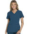 Photograph of iFlex Women V-Neck Knit Panel Top Blue CK605-CAR