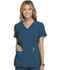 Photograph of iFlex by Cherokee Women's V-Neck Knit Panel Top Blue CK605-CAR