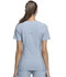 Photograph of iFlex Women V-Neck Knit Panel Top Gray CK605-GRY