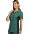 Photograph of iFlex Women's V-Neck Knit Panel Top Green CK605-HUBK