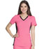Photograph of iFlex Women's V-Neck Knit Panel Top Pink CK605-KRBK