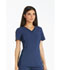 Photograph of iFlex Women's V-Neck Knit Panel Top Blue CK605-NAV