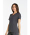 Photograph of iFlex Women V-Neck Knit Panel Top Gray CK605-PWT