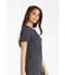 Photograph of iFlex Women's V-Neck Knit Panel Top Gray CK605-PWT