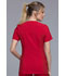 Photograph of iFlex Women's V-Neck Knit Panel Top Red CK605-RED