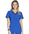 Photograph of Cherokee iFlex Women's V-Neck Knit Panel Top Blue CK605-ROBK