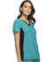 Photograph of iFlex Women's V-Neck Knit Panel Top Blue CK605-TEBK