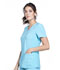 Photograph of iFlex Women V-Neck Knit Panel Top Blue CK605-TRQ