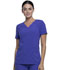 Photograph of iFlex Women's V-Neck Knit Panel Top Purple CK605-VNTT
