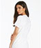 Photograph of iFlex Women's V-Neck Knit Panel Top White CK605-WHT