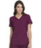Photograph of iFlex Women V-Neck Knit Panel Top Red CK605-WIN