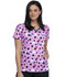 Photograph of Infinity Women Mock Wrap Top Poppin' Polka Dots Peony CK608-PKAD
