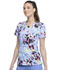 Photograph of Infinity Women Round Neck Top Beautiful Blooms CK609-BUUB