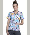Photograph of Flexibles Women's Mock Wrap Knit Panel Top Painted Pretty CK610-PTDP