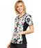 Photograph of Cherokee Flexibles Women's V-Neck Knit Panel Top Brilliant Bouquet CK611-BTBT