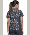 Photograph of Flexibles Women's V-Neck Knit Panel Top Geo Giraffes CK611-GOGF